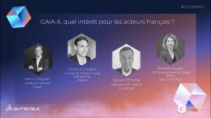 Table ronde dédiée au projet européen GAIA-X aux CLOUD DAYS 2021